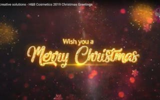 smart creative solutions - H&B Cosmetics 2019 Christmas Greetings