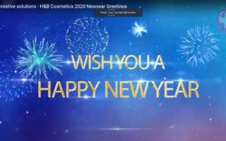smart creative solutions - H&B Cosmetics 2020 Newyear Greetings